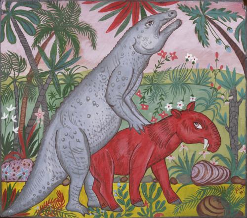 Iguanodon and astrapotherium, 2000