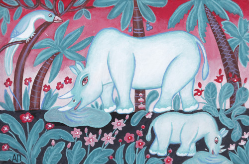 White rhinoceroses, 2010